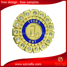lions club with diamond pin badge, fast delivery