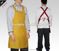 Buy personalized kitchen work aprons for men/black waist chef ...