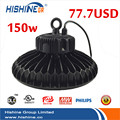 ul dlc ce rohs high lumen 130Lm/W led light 100w 120w 150w 200w 240w ufo led high bay light with MW driver 5