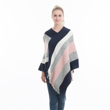 Wholesale acrylic poncho winter lady shawl scarf