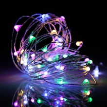Wholesale Mini Copper Ultra Thin LED String Christmas Solar Powered Outdoor Micro Fairy Lights
