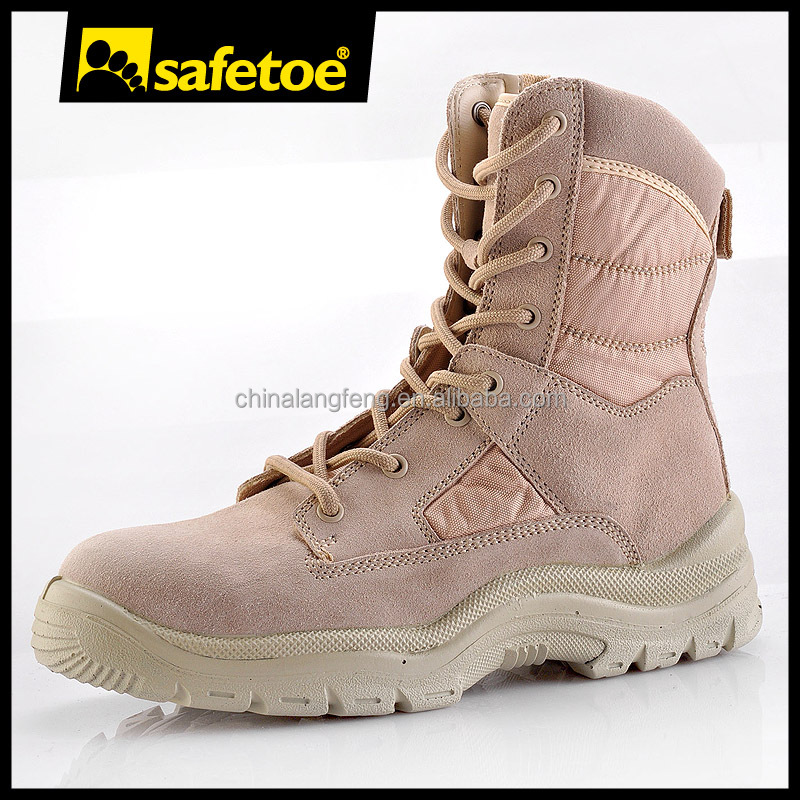 High heel CE approved italian military boots for men