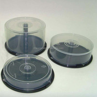 25 discs pp plastic rcd cake box /Media packaging round cake boxes