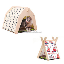 High Quality DIY Pet Kennels Wooden Dog or Cat Tent