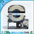 Compatible 9mm Blue on Clear Tepra tape laminated labeling tapes ST9BW