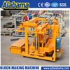 hydraulic transmission movable concrete block making machine