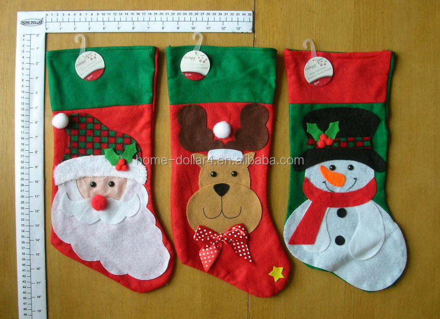 Multiply trendy design christmas decoration gifts decorative stocking cloth chirstmas stocking