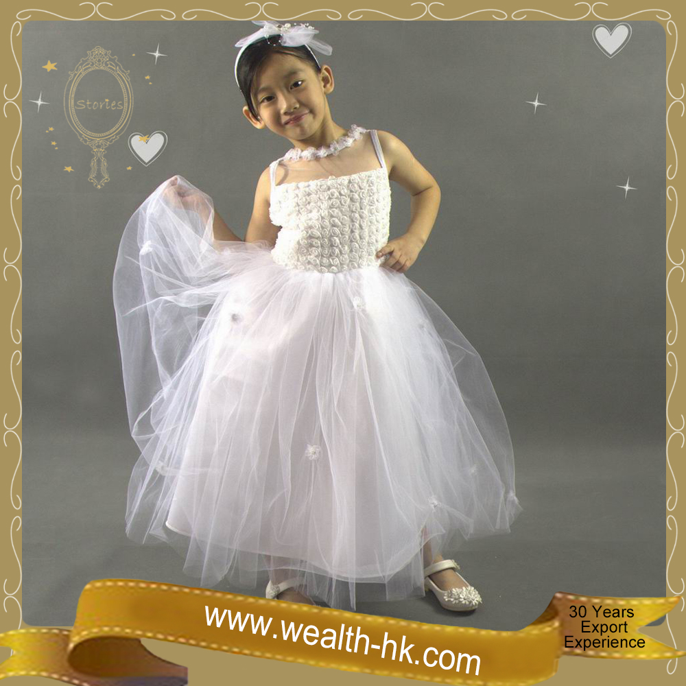 Lovely Rose Princess Bridal Dress Evening Dress for girls Costume kids wdding dresses