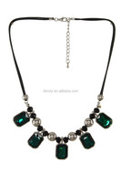Faceted Faux Gem Statement Necklace