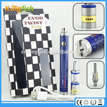New starter kit 3.2-4.8v variable voltage battery evod twist 3 m16 2015 new product on market for china wholesale