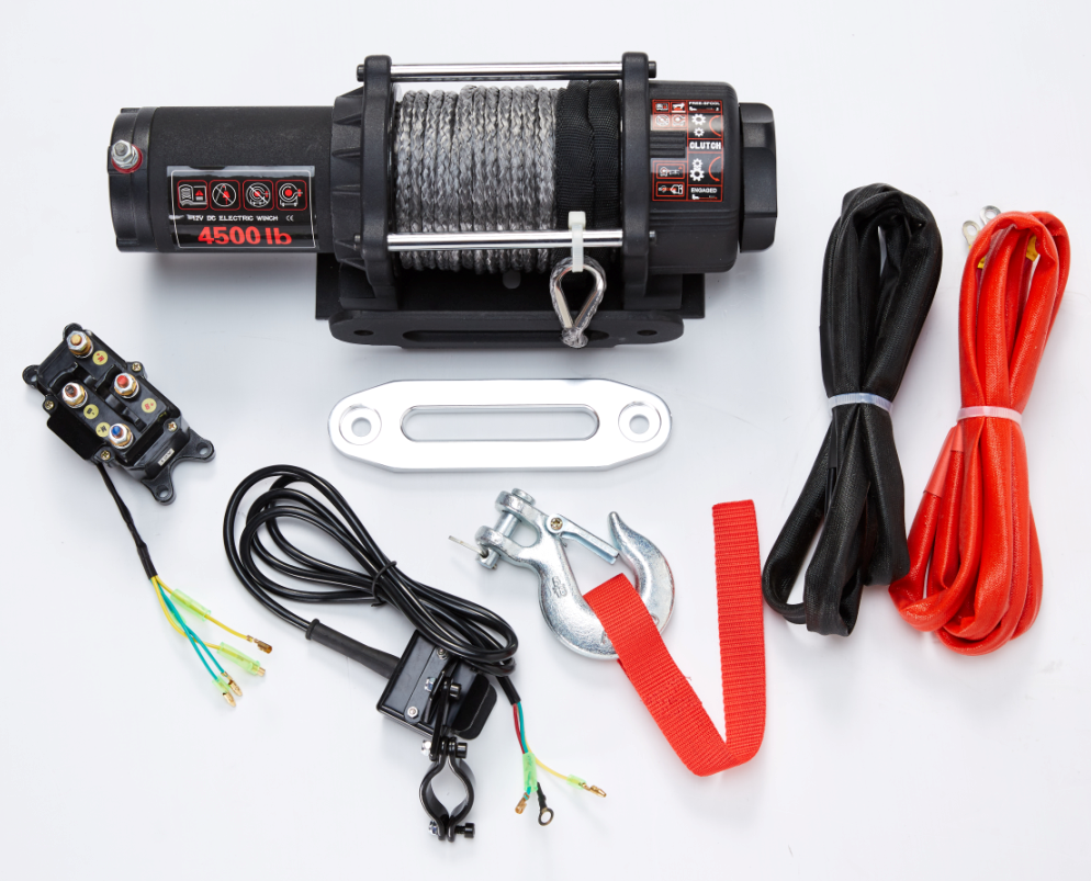 ATV electric recovery 4x4 winch 4500lb at high quality standard