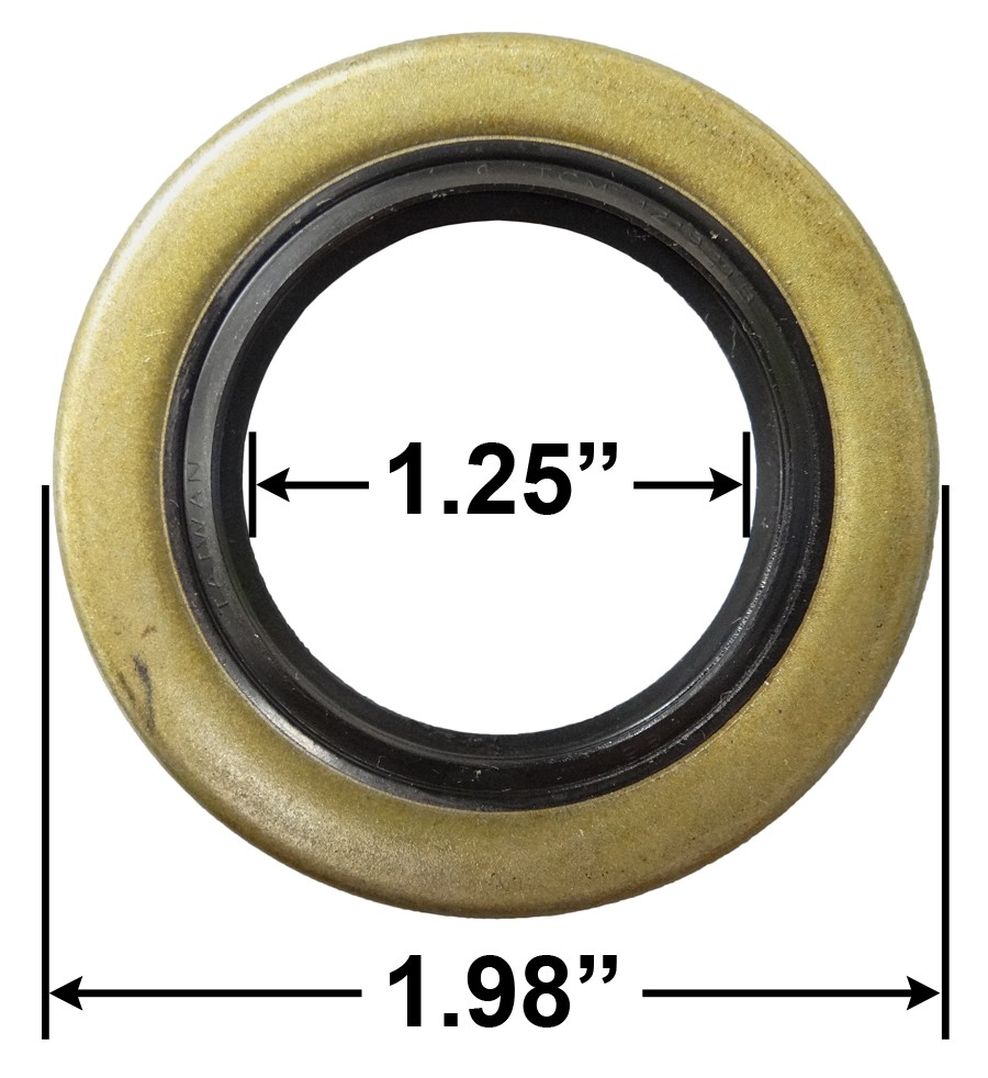 "Trailer Double Lip Grease Seal 12192TB 34823 1.25"" I.D. - 1.98"" <strong>O</strong>.D. for 2000# Axles BT8 Spindle"