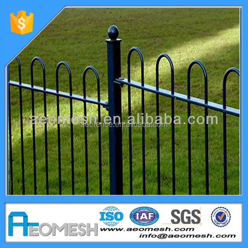 Beautiful And Cheap Wrought Iron Gates Bow Top Fence Road fence Curved Metal Railings