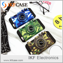 2016 new trending products 3D design tpu and pc cool camouflage camera mobile accessories for iphone 6 Plus