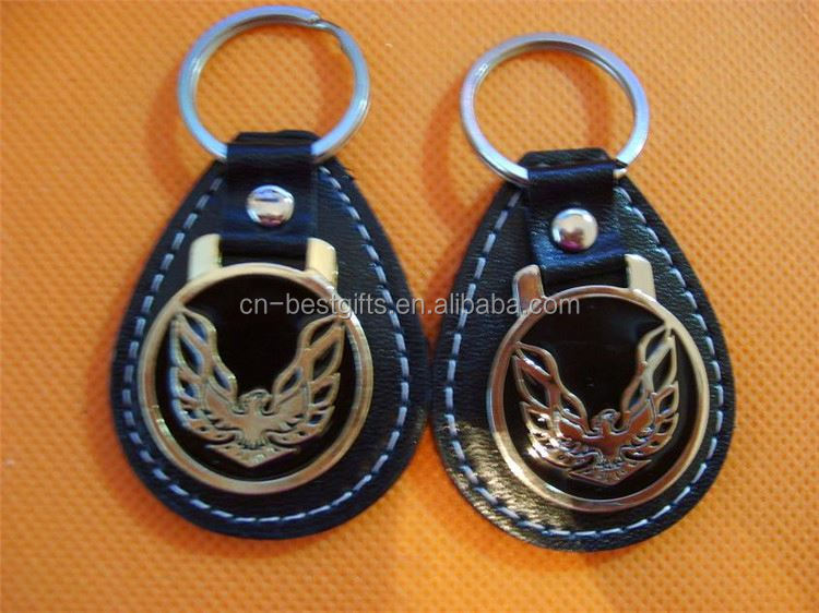 New products Excellent quality cutom pu leather key chain directly sale