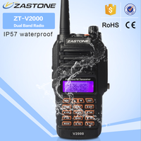 Handheld radio ZASTONE V2000 IP57 waterproof uhf/vhf dual band ham radio