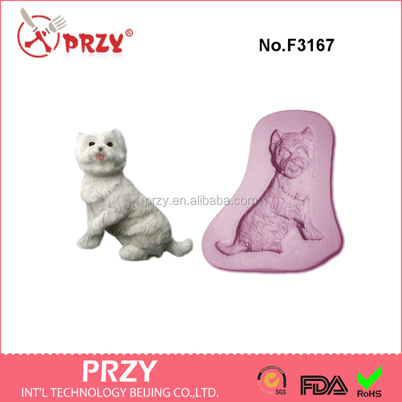 F3167 dog / westie / scottie Craft Sugarcraft Silicone Rubber Mould silicone fondant mold