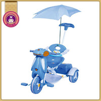 Luxury Metal Frame Toy 3 Wheel Tricycle With Parent Handle