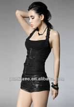 Y-456 china wholesale ladies sexy shirts and blouses with neck strap made in china