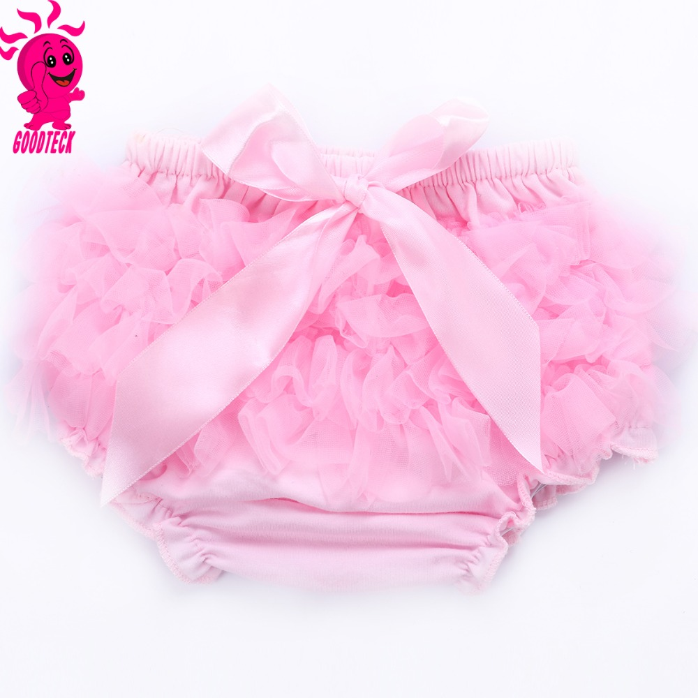 Hot sale baby clothes,new born infant baby nice light pink cotton bloomer with bow