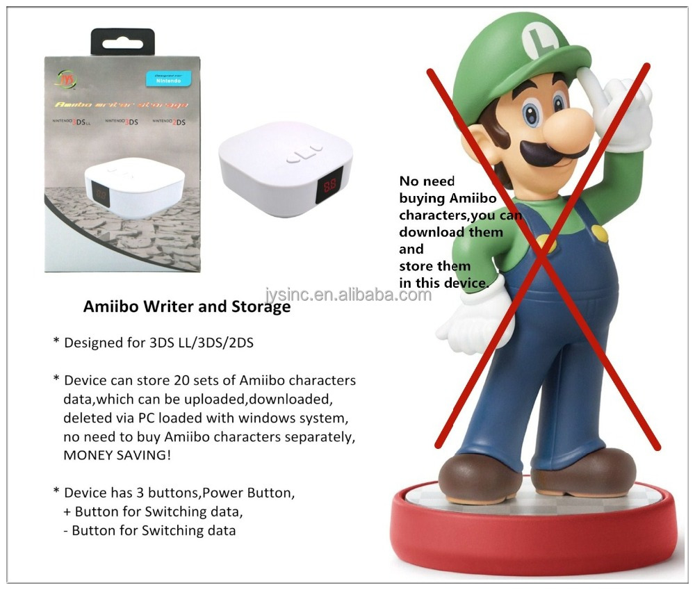 Amiibo Character/figure Writer and Storage for Nintendo 2DS/3DS/3DSLL