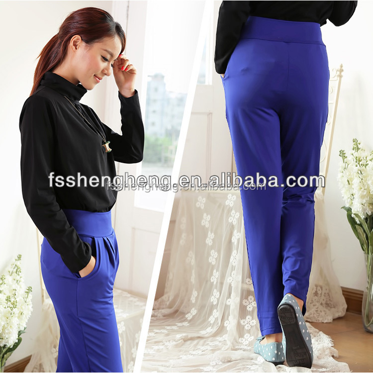 Office ladies working milk silk harem pants comfortable fashion spring casual long trousers AD015