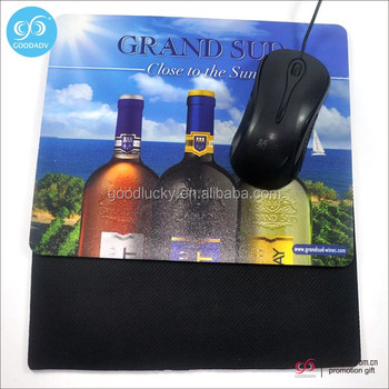 2017 wholesale mouse pad custom printed logo rubber mouse pad