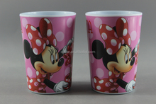Cartoon Print Melamine Mugs For Kids/Plastic Cups