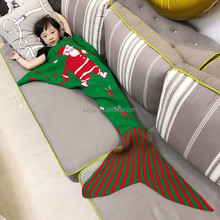 Uniquer High end softextile crotched bedding winter Mermaid Tail Blanket