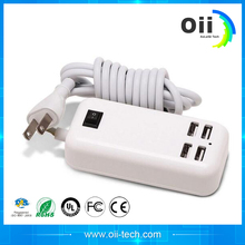 2016 New 45W 3A 4 Port Portable USB Wall Charger Adapter with cable Technology Plug for iPhone iPad S7