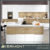 Australia style modern lacquer and wood veneer kitchen cabinet with LED light