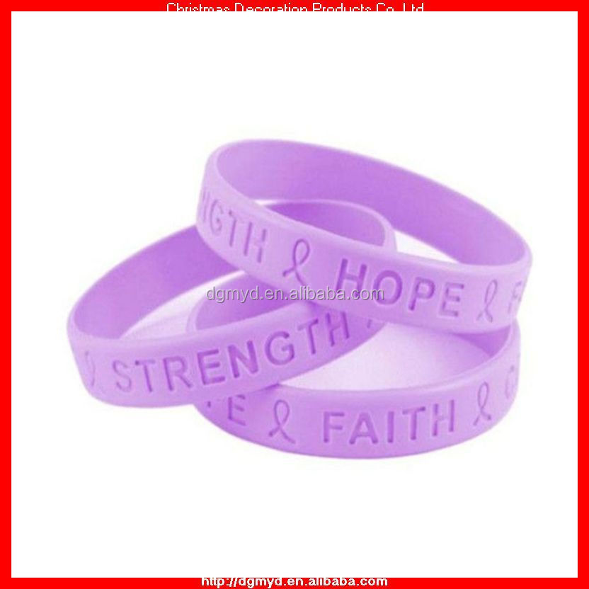 FAITH and HOPE silicone bracelet for free charity event (MYD-1518)