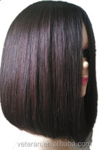 Veteran 100% human hair silk base full lace wig with baby hair for black woman