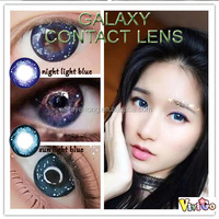 sexy design popular galaxy series star color soft contact lens