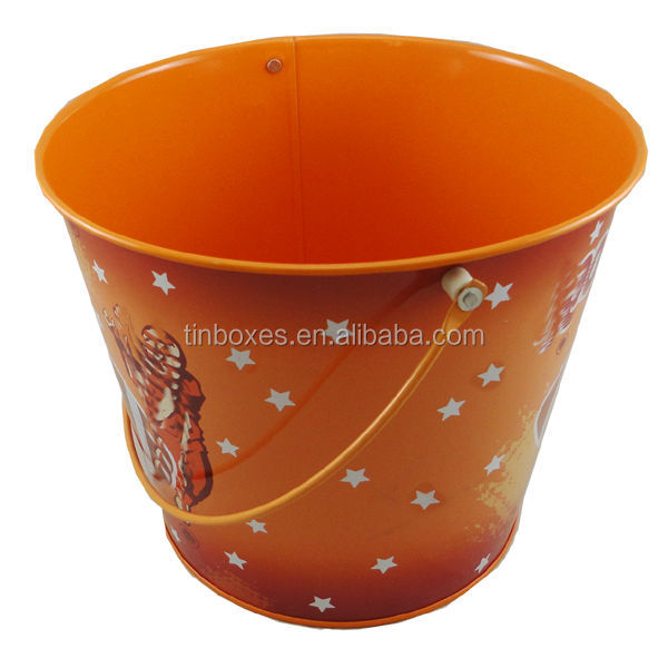 4 color print planter metal tin flower pot