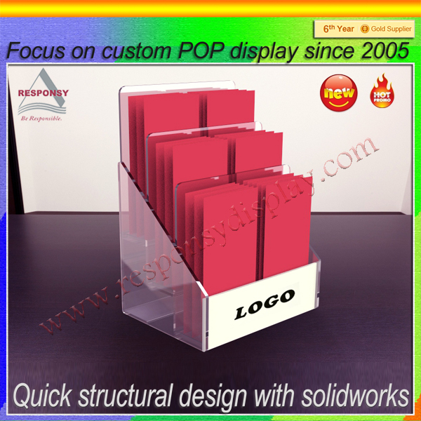 clear acrylic material retail sale birthday greeting cards stands display
