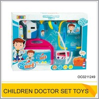Kids playing doctor stories Plastic doctor play kit with sound and light OC0211249