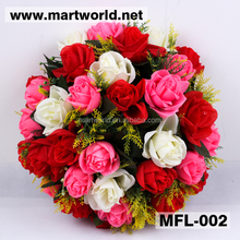 Colorful wedding artificial flower,wedding flower for decoration rose for home,hotel,event,party&wedding decoration(MFL-002)