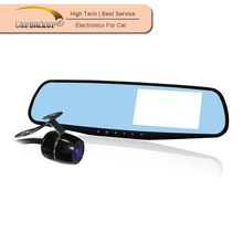 Design in Korea OEM Parking mode FHD rearview mirror car gps with dvr