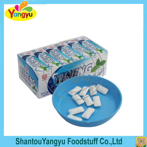 High quality white mint flavor energy chewing gum