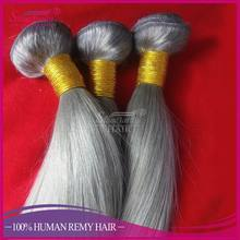 Online shopping 100% human ombre braiding hair unprocessed brazilian virgin grey straight hair extension