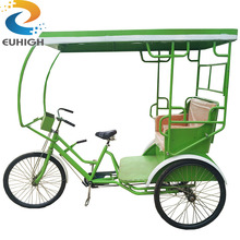 2 seat passenger sightseeing pedal exercise rickshaw electric tricycle