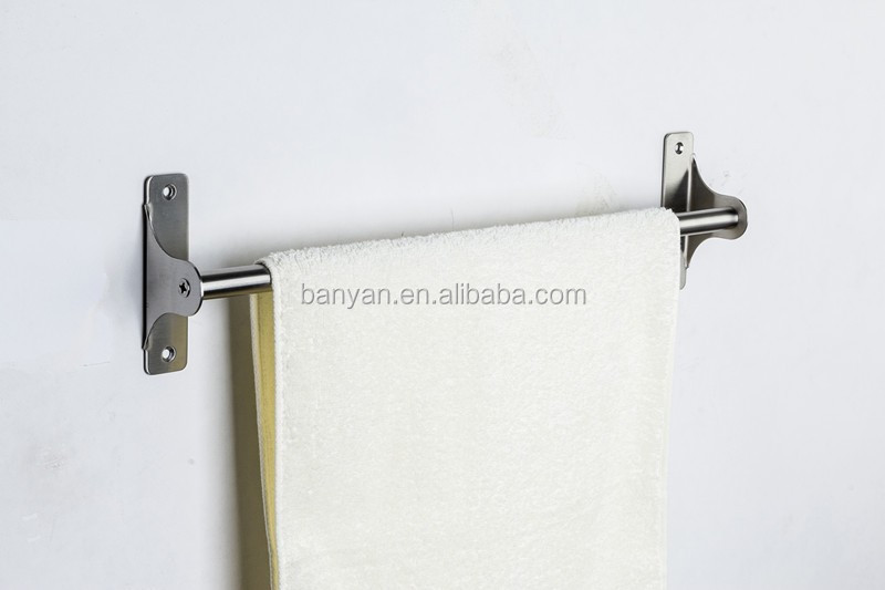 Factory Supplier 304 Stainless Steel Single Extension Towel Bar