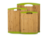 Natural Bamboo Cutting Board with Silicone Edges