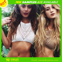 Alibaba cheap wholesale vintage handmade knitted crochet bikini for gift packing