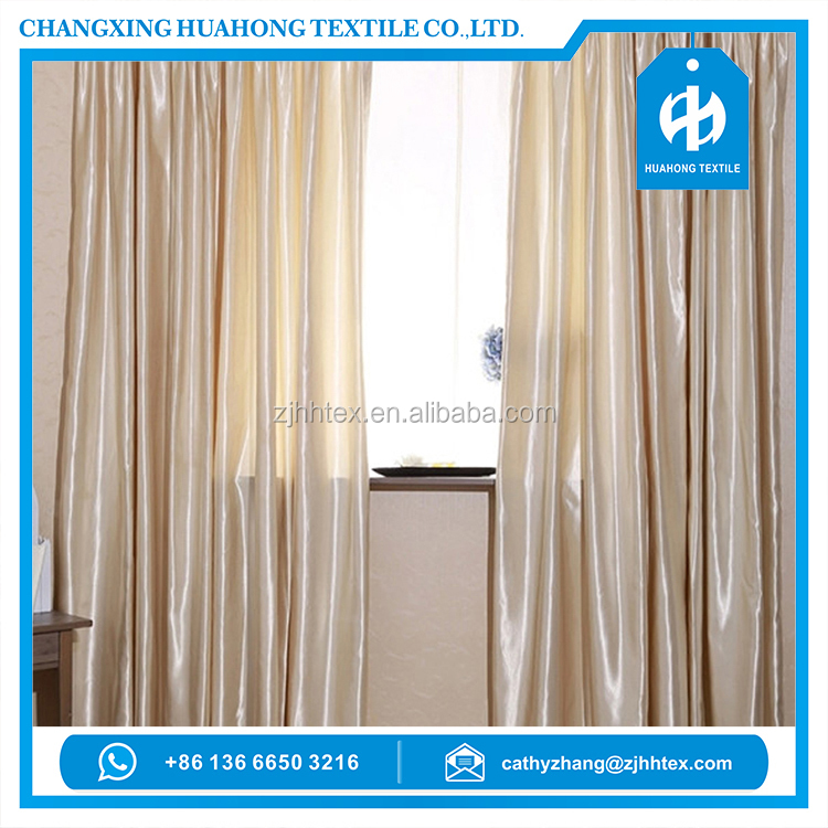 Reasonable poly satin continuous curtain fabric, oriental upholstery fabric from china supplier