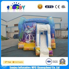 hot sale good PVC inflatable bouncer with slide small kid inflatable combo air bounce