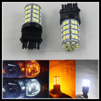 New 3157 60SMD Dual Color Switchback Turn Signal LED Light Bulbs White Amber LED Bulb Car LED Lamp