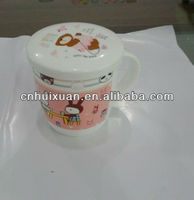 food grade plastic coffee mug with printing and lid
