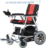China easy carry lightweight battery powered electric wheelchair with shopping bag